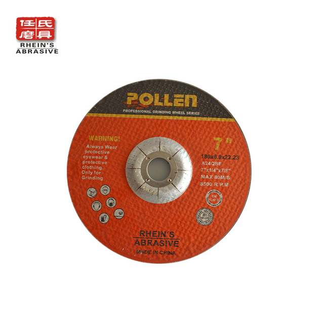 "Type27 4-1/2""Inch X 1/4Inch X7/8Inch Grade A24 Long Life Depressed Center Grinding Wheel, Cement Stone Application"