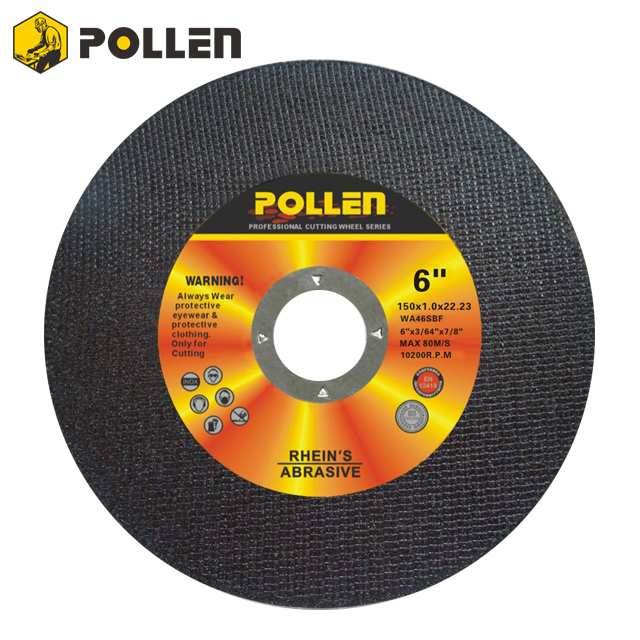 "6""x0.045"" Super Thin Cutting Disc by Chinese POLLEN Manufacture"