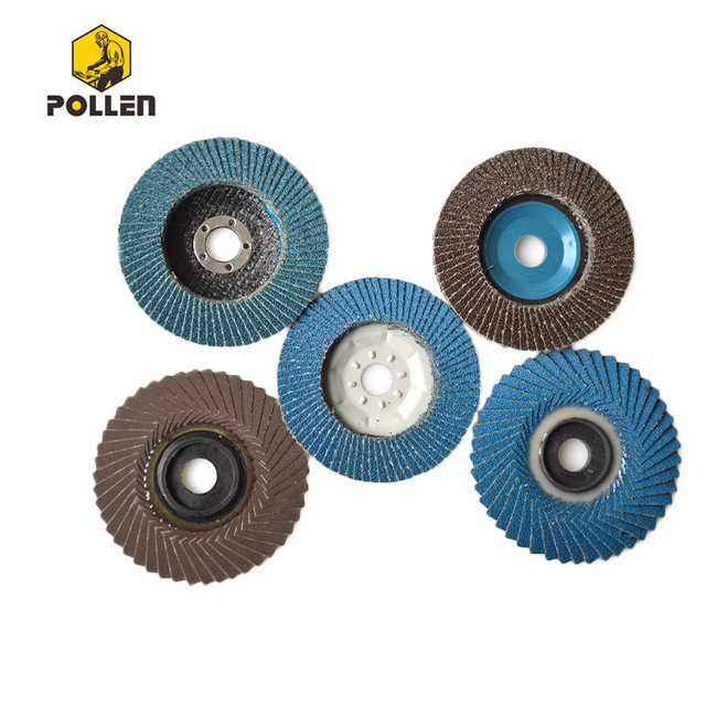 "4-1/2"" Abrasive Flap Disc, Threaded Hole,T29/27 Phenolic Resin Backing, Zirconia Alumina, 40 Grit"